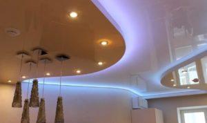 натяжные потолки с подсветкой 33