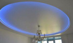 натяжной потолок с подсветкой 5