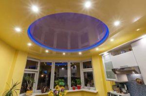 натяжной потолок с подсветкой 6