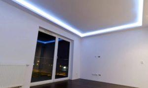 натяжной потолок с подсветкой 7