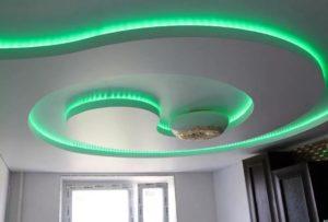 натяжной потолок с подсветкой 8