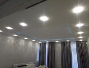 натяжной потолок с подсветкой 9