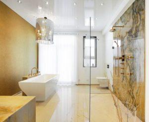 натяжной потолок в ванной 7