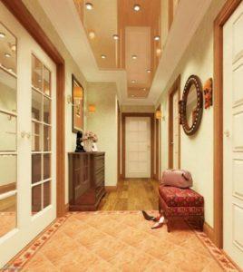 натяжной потолок в коридоре 17