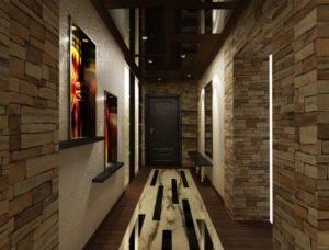 натяжной потолок в коридоре 10