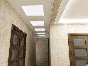 натяжной потолок в коридоре 4