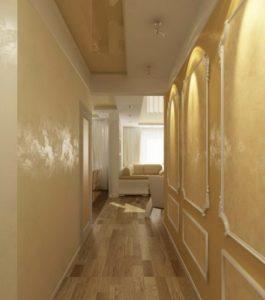 натяжной потолок в коридоре 53