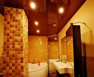 натяжной потолок в ванной 9