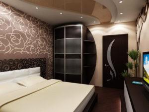Натяжной потолок в спальне 40