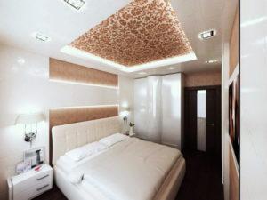 Натяжной потолок в спальне 38