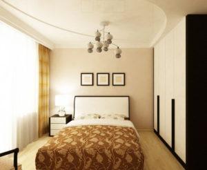 Натяжной потолок в спальне 37