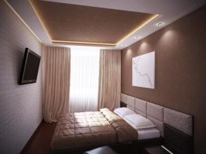 Натяжной потолок в спальне 32