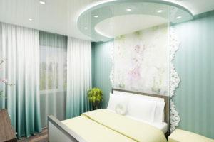 Натяжной потолок в спальне 31