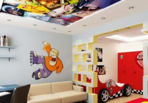 натяжной потолок в детскую 10