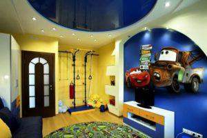 натяжной потолок в детскую 17