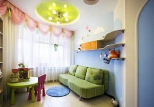 натяжной потолок в детскую 8