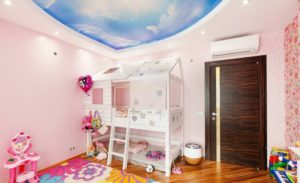 натяжной потолок в детскую 12