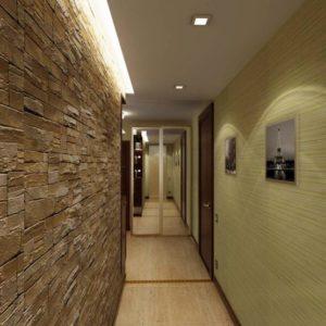 натяжной потолок в коридоре 19