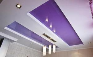 Натяжной потолок на кухне 12