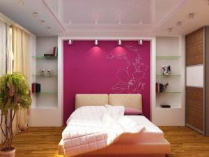 Натяжной потолок в спальне 20