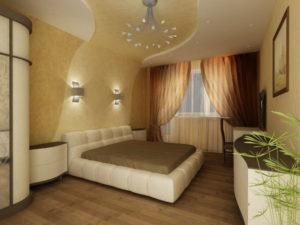 Натяжной потолок в спальне 29