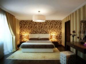 Натяжной потолок в спальне 27