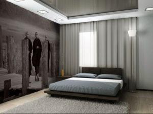 Натяжной потолок в спальне 25