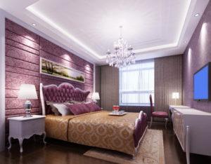 Натяжной потолок в спальне 24