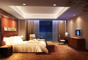 Натяжной потолок в спальне 22