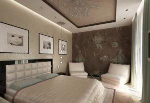 Натяжной потолок в спальню 18