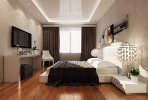Натяжной потолок в спальню 16