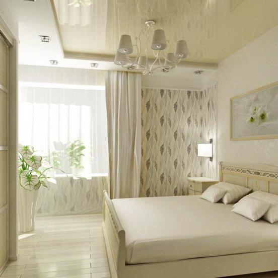 Натяжной потолок в спальню 15
