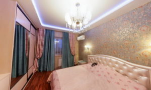 Натяжной потолок в спальню 13