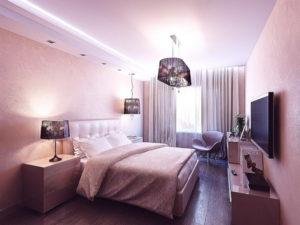 Натяжной потолок в спальню 12