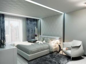Натяжной потолок в спальню 11