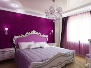 Натяжной потолок в спальню 10