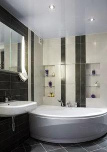 натяжной потолок в ванной 14