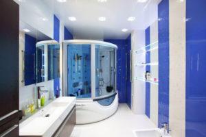 натяжной потолок в ванной 23