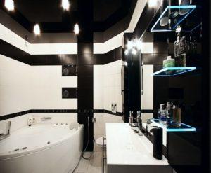 натяжной потолок в ванной 11