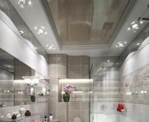 натяжной потолок в ванной 17