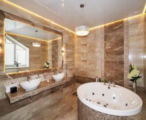 натяжной потолок в ванной 19