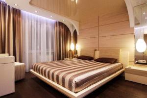 Натяжной потолок в спальню 7
