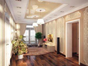 натяжной потолок в коридоре 40