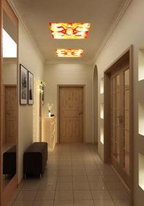 натяжной потолок в коридоре 8
