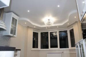 Натяжной потолок на кухне 23