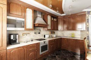 Натяжной потолок на кухне 20