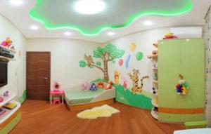 натяжной потолок в детской 41