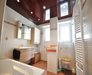 натяжной потолок в ванной 5