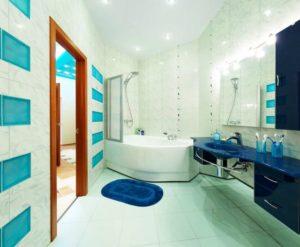 натяжной потолок в ванной 8