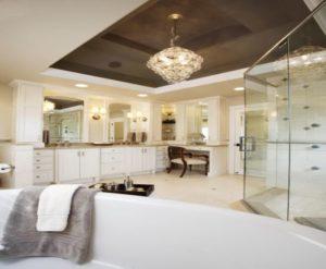 натяжной потолок в ванной 4